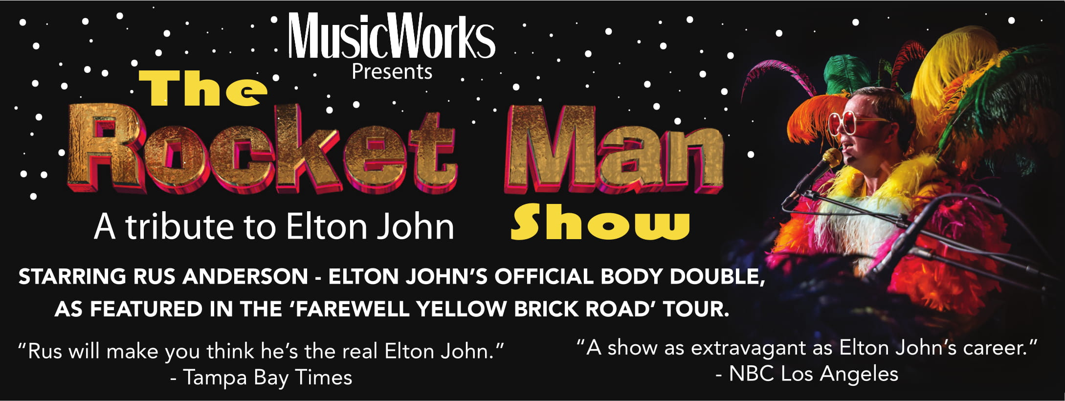 The Rocket Man Show Web Banner